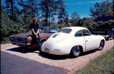 Spring of 1972 - the Porsche with my 1965 Corvair Corsa Turbocharged convertible. The Corvair engine was heavily modified and made over 250 HP - it would do 130+ between mile markers on I-75 according to a stopwatch.