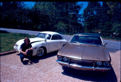 I finally own a Porsche! Dad wouldn't LOAN me the extra $200 I needed to buy a $600 Speedster two years before so I had wound up with a Turbocharged Corvair Corsa with a bad cylinder head and turbo for $275. After spending a lot of time and money fixing the Corvair (and pushing the engine to over 250 HP) I was able to get the car I really wanted all along.