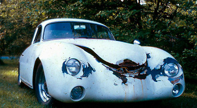 This is what the Porsche looked like in 1971 when I bought it. My dad thought I was nuts.