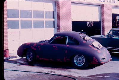 Outside the paint shop on Peachtree Industrial in 1973. My dad provided some surplus Lockheed Jetstar white epoxy enamel for the paint job.